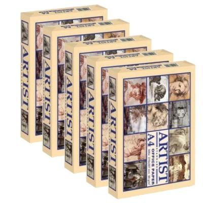 Копирна хартия Artist A4 - кашон 5 пакета